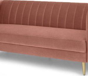 Amicie Sofa Bed, Blush Pink Velvet
