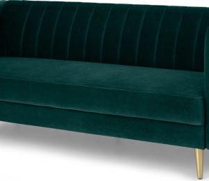 Amicie Sofa Bed, Seafoam Blue Velvet