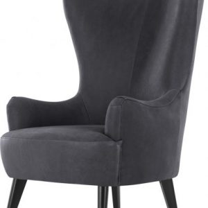 Bodil Accent Armchair, Grey Leather