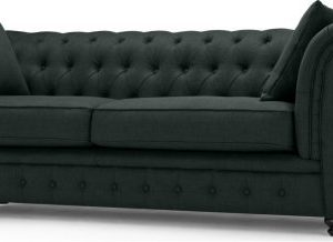 Branagh 3 Seater Chesterfield Sofa, Anthracite Grey