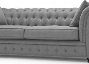 Branagh 3 Seater Chesterfield Sofa, Pearl Grey