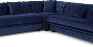 Branagh Corner Sofa, Electric Blue Velvet
