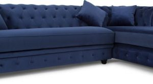 Branagh Right Hand Facing Chaise End Corner Sofa, Electric Blue Velvet
