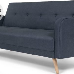 Chou Click Clack Sofa Bed, Quartz Blue