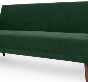 Chou Click Clack Sofa Bed, Velvet Pine Green