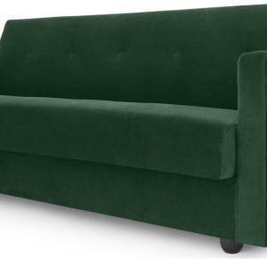 Chou Click Clack Sofa Bed with Storage, Velvet Pine Green