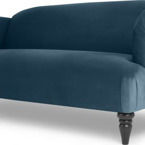 Claudia 3 Seater Sofa, Velvet Midnight Blue