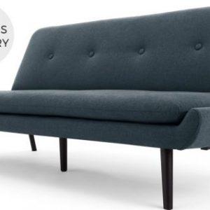 Edwin Click Clack Sofa Bed, Aegean Blue