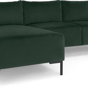 Frederik 3 Seater Left Hand Facing Compact Corner Chaise End Sofa, Autumn Green Velvet