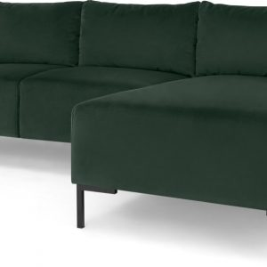 Frederik 3 Seater Right Hand Facing Compact Corner Chaise End Sofa, Autumn Green Velvet