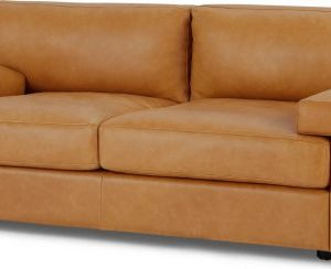 Gioffre Large 2 Seater Sofa, Courier Tan Premium Leather