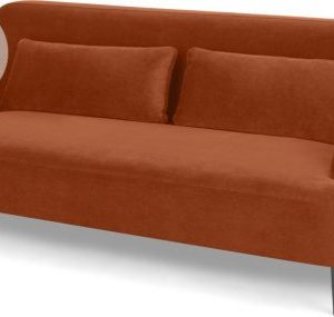 Giselle 2 Seater Sofa, Nutmeg Orange Velvet