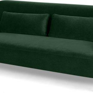 Giselle 2 Seater Sofa, Pine Green Velvet