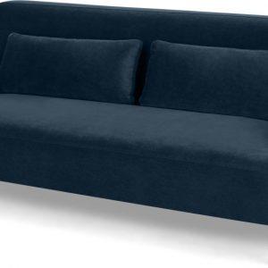 Giselle 2 Seater Sofa, Sapphire Blue Velvet