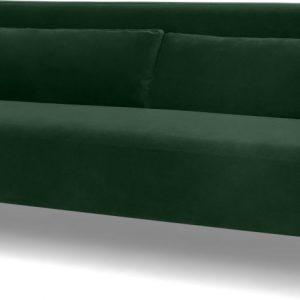 Giselle 3 Seater Sofa, Pine Green Velvet