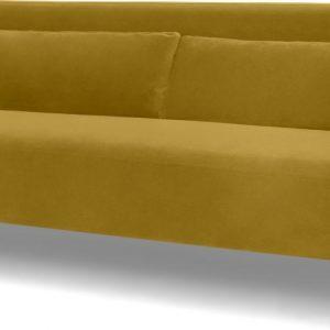 Giselle 3 Seater Sofa, Vintage Gold Velvet