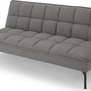 Hallie Click Clack Sofa Bed, Manhattan Grey with Black Legs