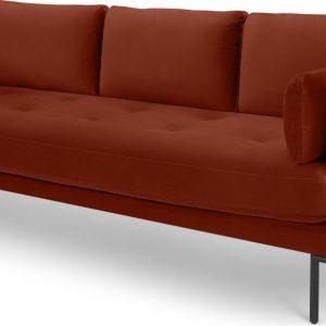 Harlow 3 Seater Sofa, Brick Red Velvet