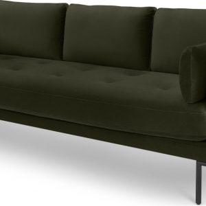 Harlow 3 Seater Sofa, Dark Olive Velvet