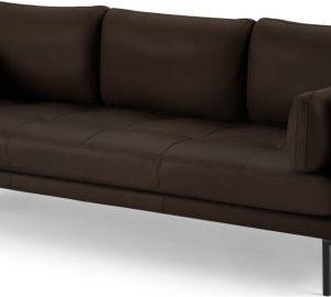 Harlow 3 Seater Sofa, Denver Dark Brown Leather