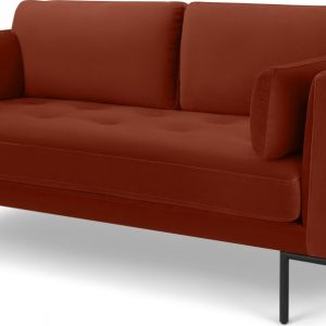 Harlow Large 2 Seater Sofa, Brick Red Vevet