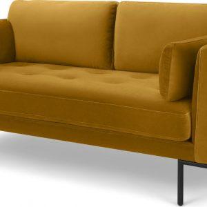 Harlow Large 2 Seater Sofa, Vintage Mustard Velvet