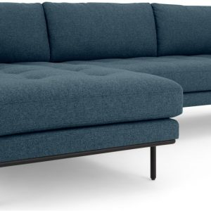 Harlow Left Hand Facing Chaise End Corner Sofa, Orleans Blue