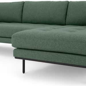 Harlow Right Hand Facing Chaise End Corner Sofa, Darby Green