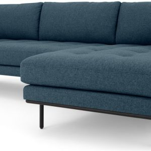 Harlow Right Hand Facing Chaise End Corner Sofa, Orleans Blue