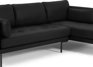 Harlow Right Hand Facing Chaise End Sofa, Denver Black Leather