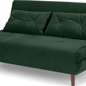 Haru Large Double Sofa Bed, Pine Green Velvet