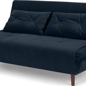 Haru Large Double Sofa Bed, Sapphire Blue Velvet