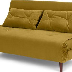 Haru Large Double Sofa Bed, Vintage Gold Velvet