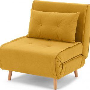 Haru Single Sofa Bed, Butter Yellow