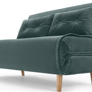Haru Small Sofa Bed, Marine Green Velvet