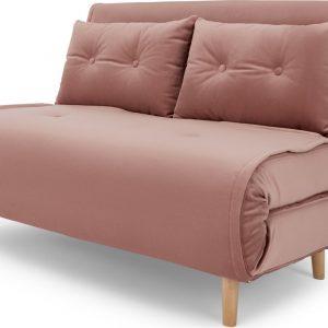 Haru Small Sofa Bed, Vintage Pink Velvet
