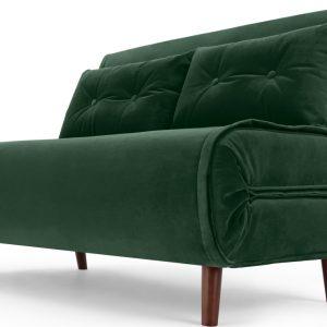 Haru Small Sofa bed, Pine Green Velvet