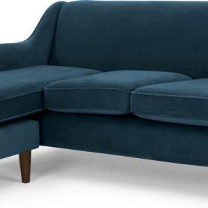 Helena Large Chaise End Corner Sofa, Plush Teal Velvet