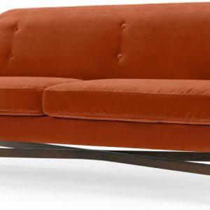 Imani 3 Seater Sofa, Burnt Orange Cotton Velvet