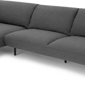 Inka Left Hand Facing Chaise End Corner Sofa, Marl Grey