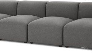 Juno 4 Seater Modular Sofa, Marl Grey
