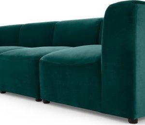 Juno 4 Seater Modular Sofa, Seafoam Blue Velvet