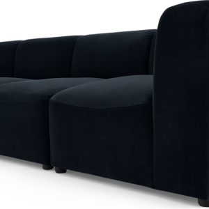 Juno 4 Seater Modular Sofa, Twilight Blue Velvet