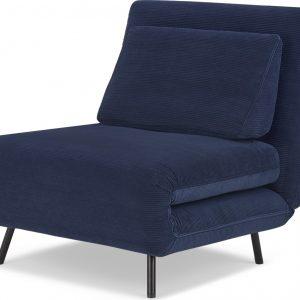 Kahlo Single Sofa Bed, Navy Corduroy Velvet