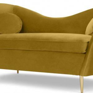 Kooper 2 Seater Sofa, Vintage Gold Velvet