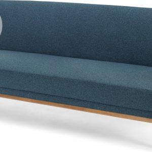 Lars Click Clack Sofa Bed, Orleans Blue and Oak Frame