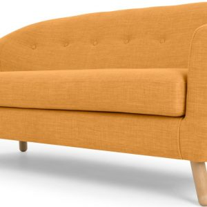 Lottie 3 Seater Sofa, Honey Yellow