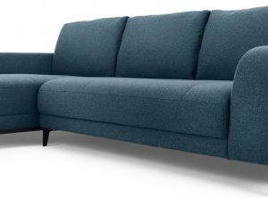 Luciano Left Hand Facing Chaise End Corner Sofa, Orleans Blue