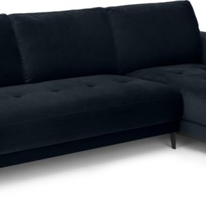 Luciano Right Hand Facing Chaise End Corner Sofa, Twilight Blue Velvet