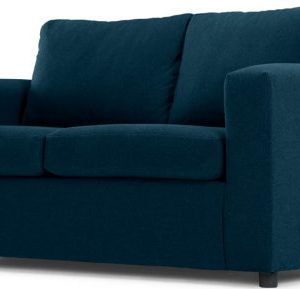 MADE Essentials Felix 2 Seater Sofa Bed with Foam Mattress, Shetland Blue
